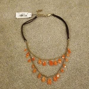 Kenneth cole semi precious orange stone necklace